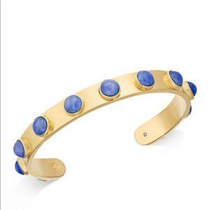 Kate Spade ♠️ Gold-Tone Bezel Stone Cuff Bracelet